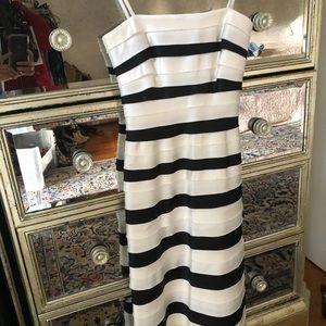 Satin strapless BCBG cocktail dress